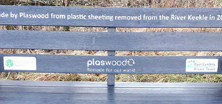 Benches Made From Plastic River Waste Mark a UK First for Plaswood